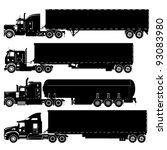 vector detailed trucks...   Shutterstock .eps vector #93083980