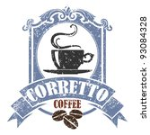 coffee stamp color | Shutterstock .eps vector #93084328