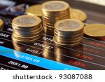 money and chart   Shutterstock . vector #93087088