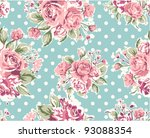 pink vintage rose pattern on... | Shutterstock .eps vector #93088354