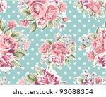 Pink Vintage Rose Pattern On...