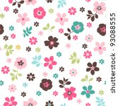 tiny floral seamless pattern | Shutterstock .eps vector #93088555