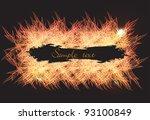 fire banner. vector.   Shutterstock .eps vector #93100849