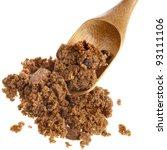 Brown Dark Sugar With Wooden...