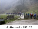 Walkers Setting Off On A Foggy...
