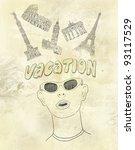 vacation background   Shutterstock . vector #93117529