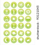 set of 21 green nature signs | Shutterstock .eps vector #93121045