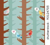 animal,backgrounds,birds,blue,branch,brown,color,cute,day,decoration,design,elements,feelings,forest,friendship