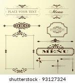 calligraphic design elements... | Shutterstock .eps vector #93127324
