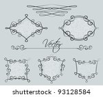 set of decorative frames | Shutterstock .eps vector #93128584