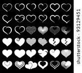 heart collection icon  love... | Shutterstock .eps vector #93129451