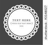 elegant crochet lace classic... | Shutterstock .eps vector #93148027