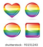 set of rainbow buttons