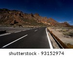 Teide Road In The Middle Of Th...