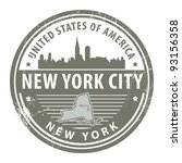 Grunge rubber stamp with name of New York, New York City, vector illustration - stock vector