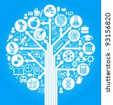 tree of knowledge. the concept... | Shutterstock .eps vector #93156820