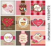 set of valentine's day...   Shutterstock .eps vector #93156973