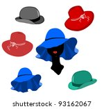 women and men hats lot vector...