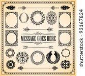 vector set  calligraphy vintage ... | Shutterstock .eps vector #93167824