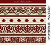 Vector Set Tape Ornament Old...