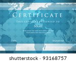 certificate of completion... | Shutterstock .eps vector #93168757