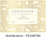 certificate of completion... | Shutterstock .eps vector #93168760