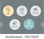 icons for web   apps and... | Shutterstock .eps vector #93174325
