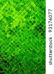 grunge green mosaic, green background - stock photo