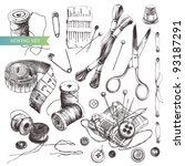 vector set  collection of... | Shutterstock .eps vector #93187291