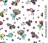bird love pattern | Shutterstock .eps vector #93192130