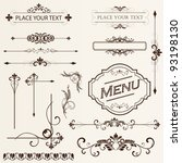 calligraphic design elements... | Shutterstock .eps vector #93198130
