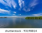 a beautiful lake in danube... | Shutterstock . vector #93198814