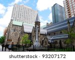 Church in Downtown Toronto, Canada - stock photo