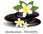 vector frangiapani flowers and... | Shutterstock .eps vector #93210391