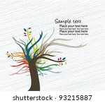 tree   abstract colorful tree | Shutterstock .eps vector #93215887