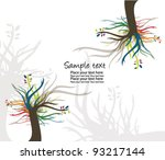 tree   abstract tree card | Shutterstock .eps vector #93217144