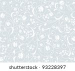 Stock vector seamless grey floral background 93228397