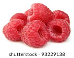 Sweet raspberry in closeup - stock photo