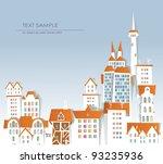 "city background ""white city""... | Shutterstock .eps vector #93235936"