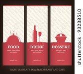 menu template for restaurant...   Shutterstock .eps vector #93238510