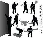Worker With Their Tool Vector...
