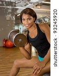 african american woman training ... | Shutterstock . vector #93245920