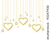 card with golden heart and... | Shutterstock .eps vector #93247930