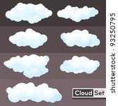 illustration clouds set | Shutterstock .eps vector #93250795