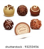 Vector Set Of Chocolate On A...