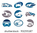 car. abstract element set of... | Shutterstock .eps vector #93255187