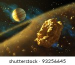 asteroids belt in outer space ... | Shutterstock . vector #93256645