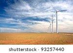 a wind farm in west texas. | Shutterstock . vector #93257440