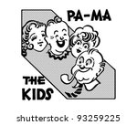 Pa Ma The Kids   Retro Clipart...