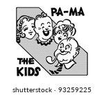 pa ma the kids   retro clipart... | Shutterstock .eps vector #93259225
